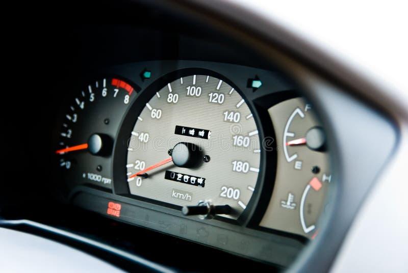 Automobile odometer. An automobile odometer car interior stock photography