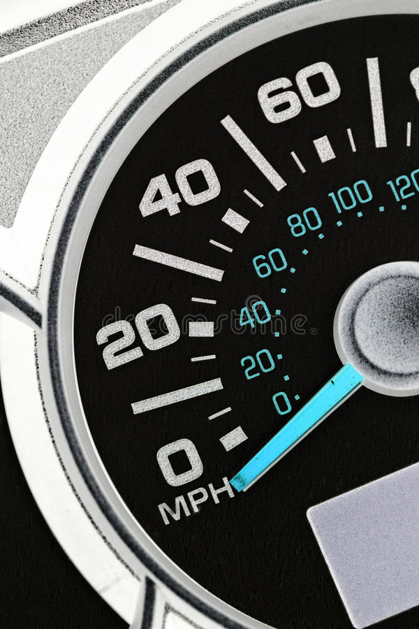 An automobile odometer. Close up stock images