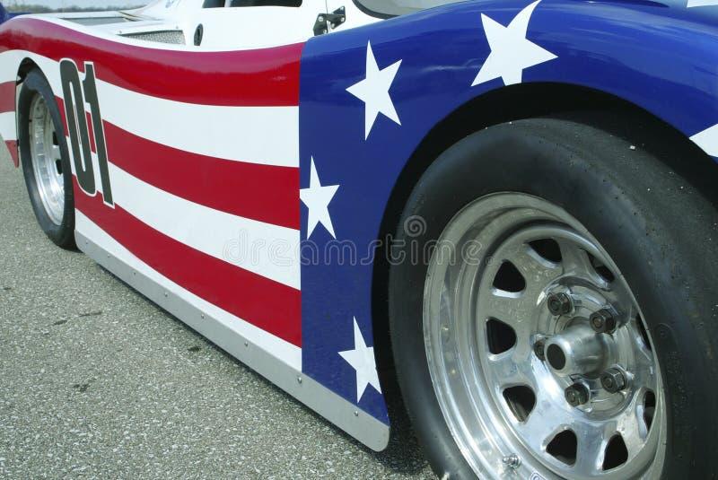 Automobile patriotique photographie stock