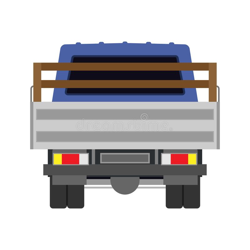 Automobile posteriore di vista dell'icona di vettore del camion Trasporto di carico isolato consegna del camion Annuncio pubblici royalty illustrazione gratis