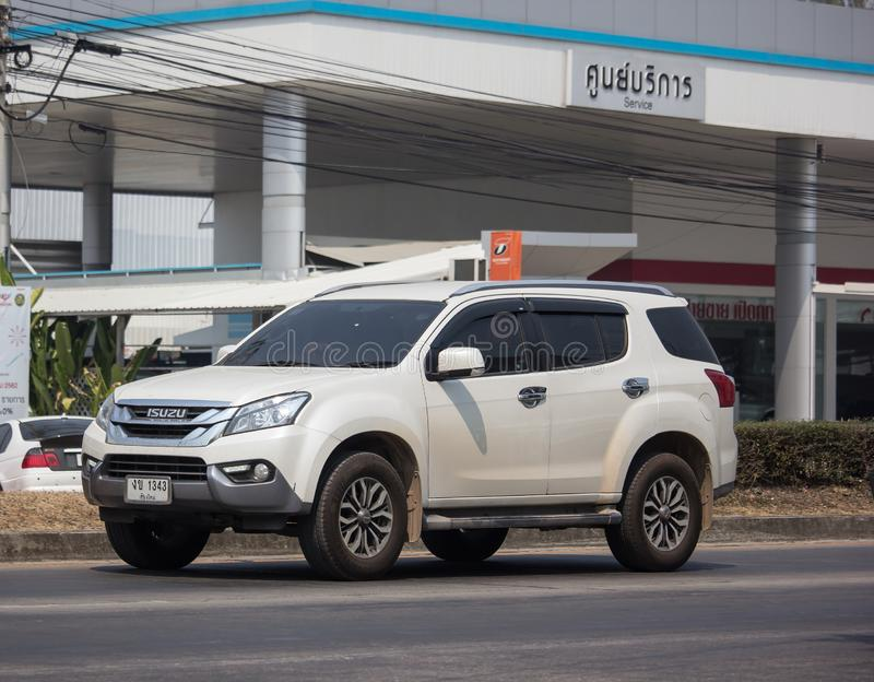 Automobile privata Isuzu Mu di SUV x MU-x immagine stock