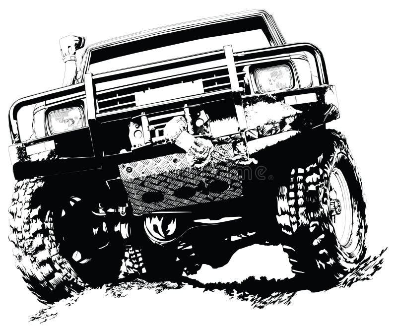 Automobile a quattro ruote illustrazione vettoriale