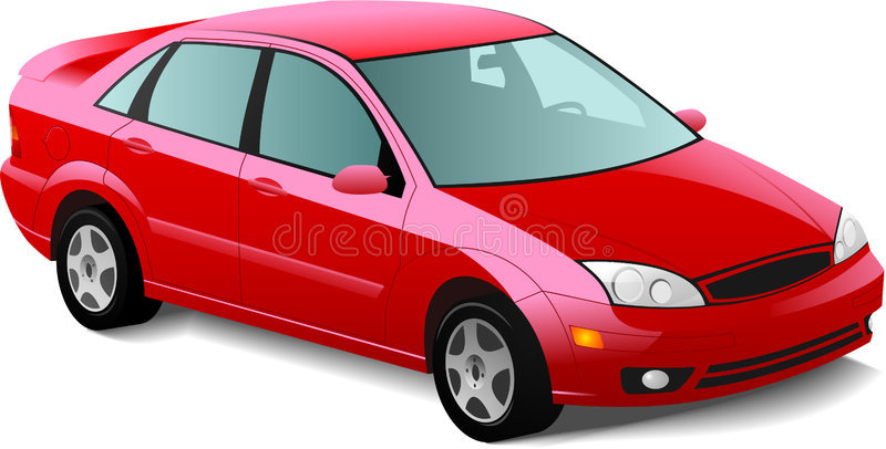 Download Automobile red sedan stock vector. Image of auto, move - 8940866