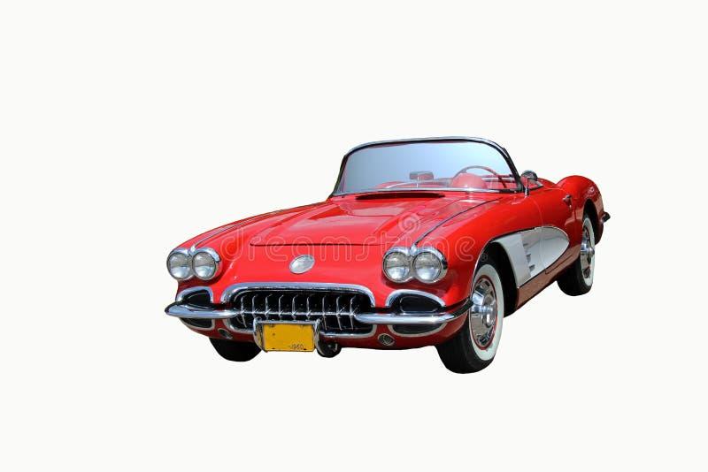 Automobile rossa d'annata immagine stock
