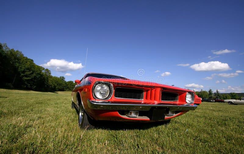 Automobile rossa del muscolo immagine stock libera da diritti