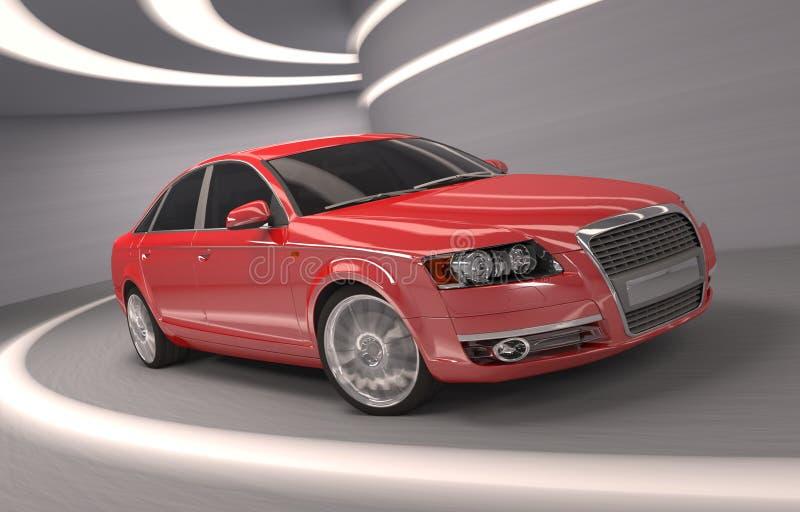 Automobile rossa di concetto della mia progettazione royalty illustrazione gratis
