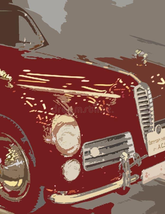 Automobile rouge images libres de droits