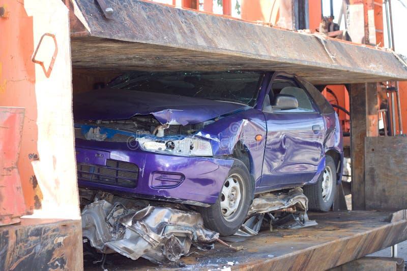 Automobile schiacciata fotografia stock libera da diritti