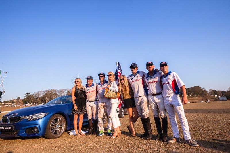 Automobile Shongweni Hillcrest del garante dei giocatori di U.S.A. di polo immagini stock