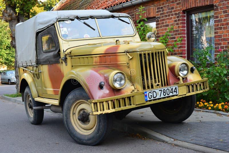 Automobile sovietica classica GAZ-69 immagine stock libera da diritti