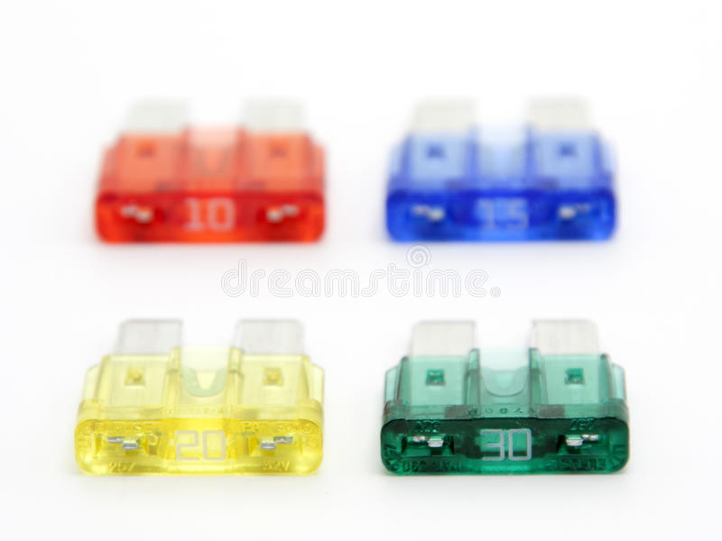 Download Automobile  spare  fuses stock image. Image of equipment - 17236023