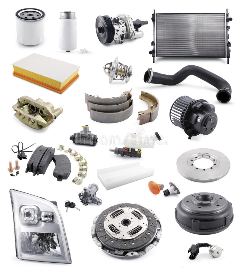 Automobile spare parts stock photography