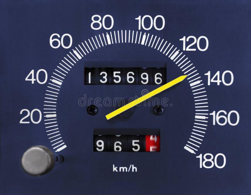 Automobile Speedometer and Odometer. Automobile analogue speedometer and odometer stock images