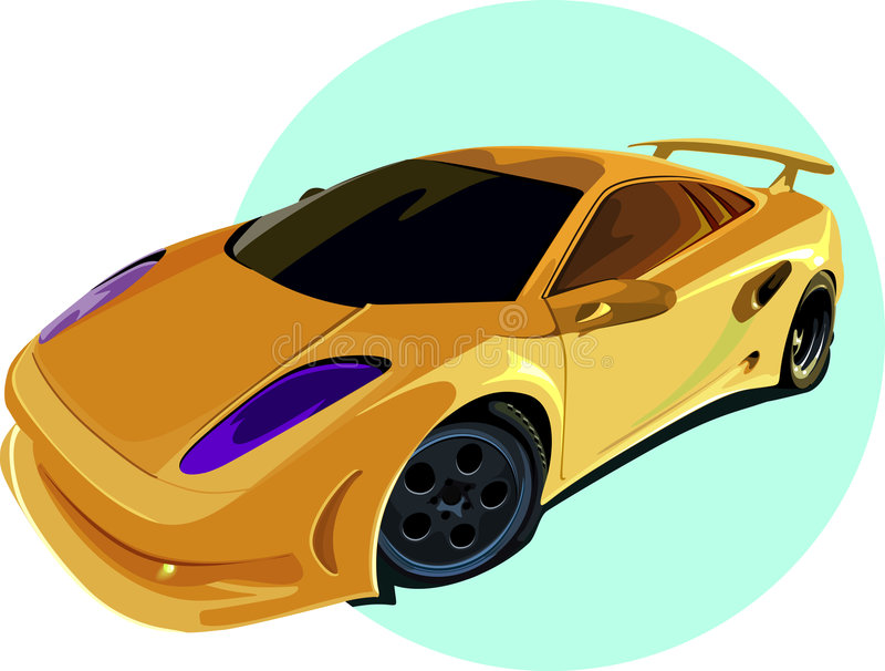 Automobile sportiva illustrazione vettoriale