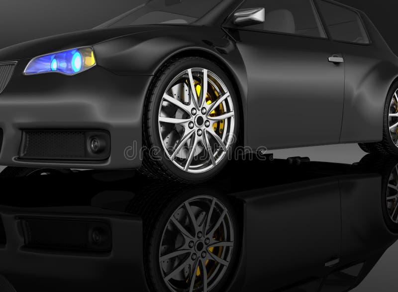 Automobile sportiva - 3d rendono illustrazione vettoriale