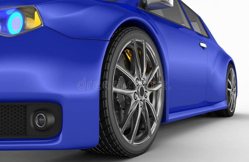 Automobile sportiva - 3d rendono royalty illustrazione gratis