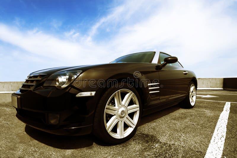 Automobile sportiva aggressiva fotografie stock