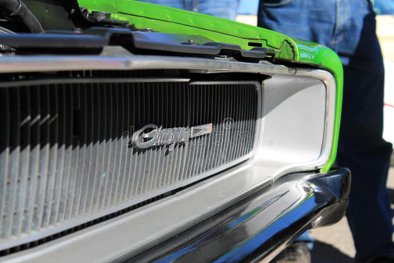 Automobile sportiva americana classica del dettaglio immagini stock libere da diritti