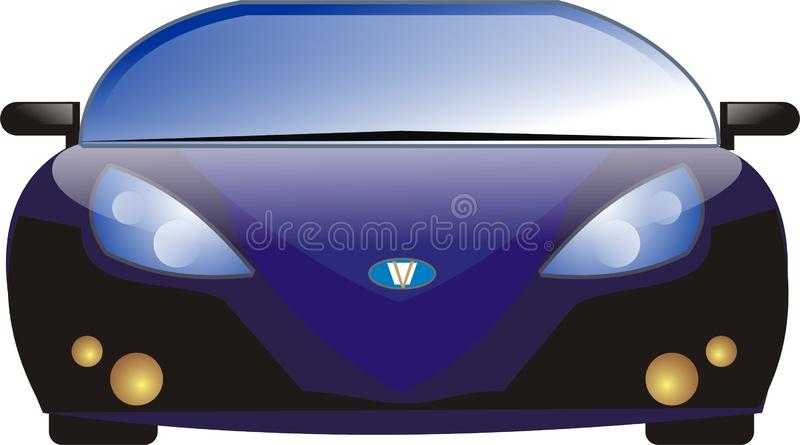 Automobile sportiva blu destra fotografie stock