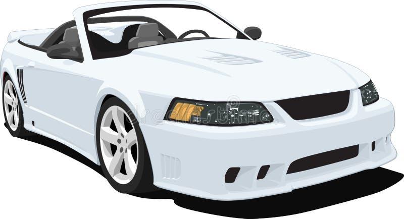 Automobile sportiva convertibile americana illustrazione vettoriale