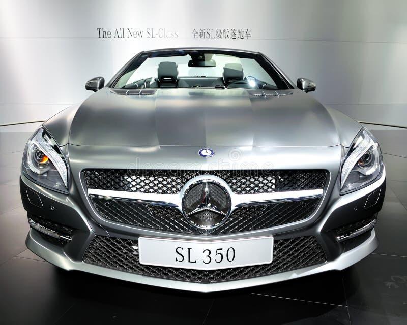 Automobile sportiva convertibile di SL-Class di Mercedes-Benz fotografie stock libere da diritti