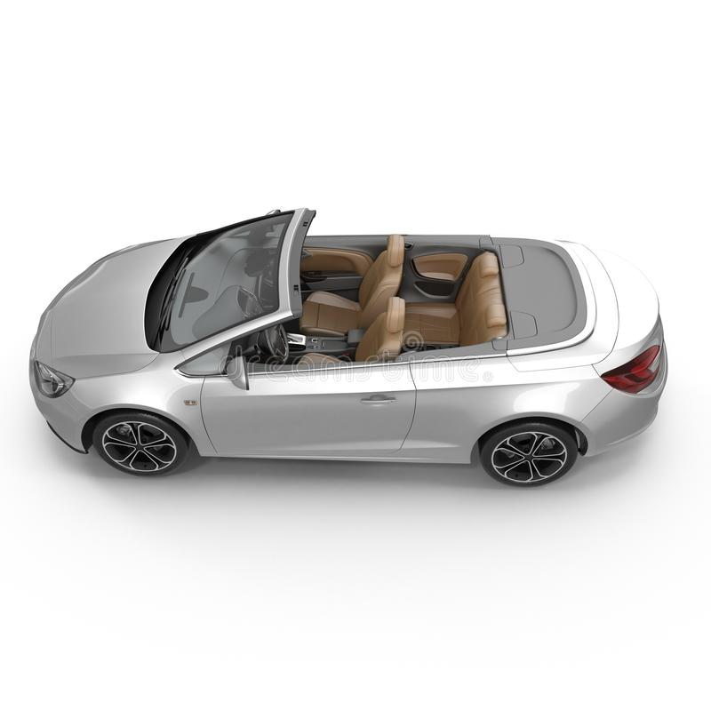 Automobile sportiva convertibile isolata su un bianco illustrazione 3D royalty illustrazione gratis