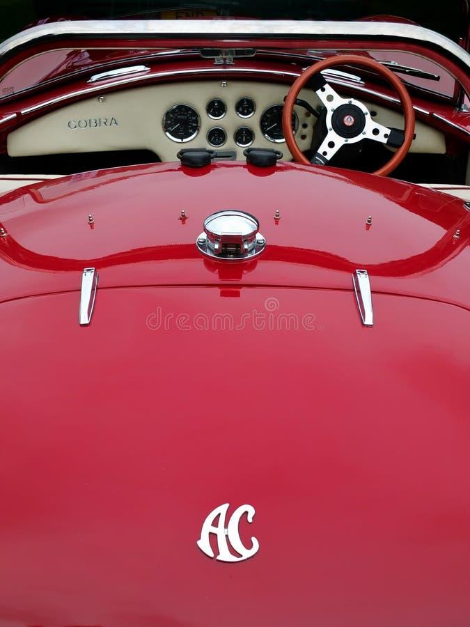 Automobile sportiva d'annata della cobra di CA fotografie stock