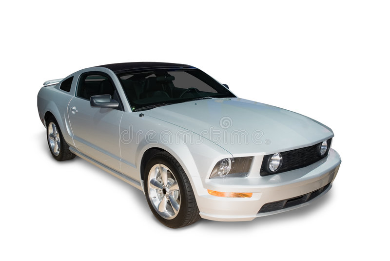 Automobile sportiva d'argento immagine stock libera da diritti