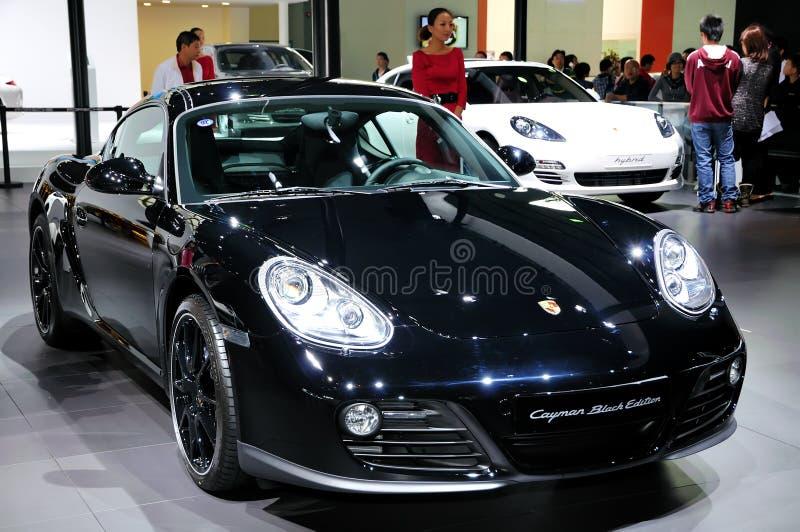 Automobile sportiva del caimano della Porsche (edizione nera) immagini stock libere da diritti