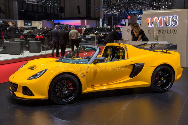Automobile sportiva dell'automobile scoperta a due posti di Lotus Exige Sport 350 fotografie stock