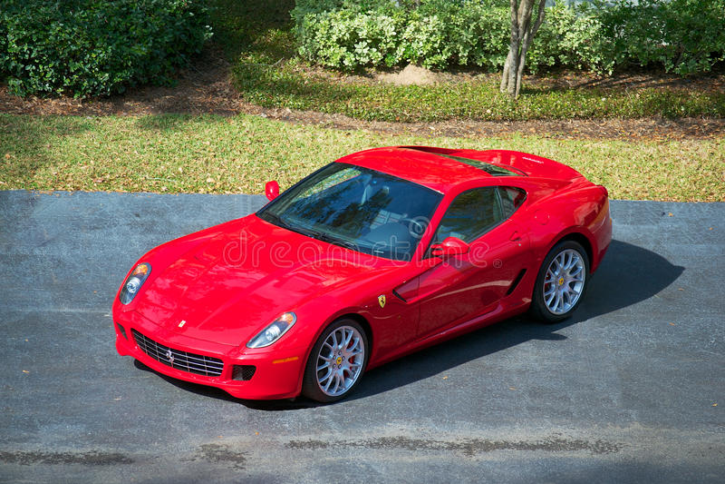 Automobile sportiva di Ferrari 599 GTB immagini stock