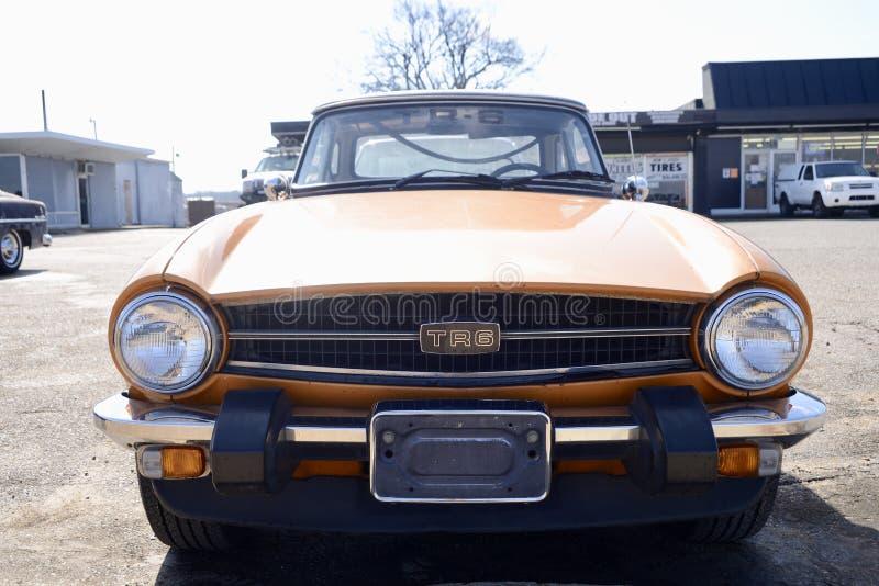 Automobile sportiva di Triumph TR6 immagine stock