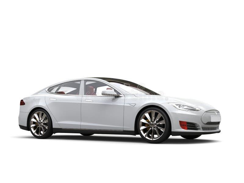 Automobile sportiva elettrica moderna bianca fresca illustrazione di stock