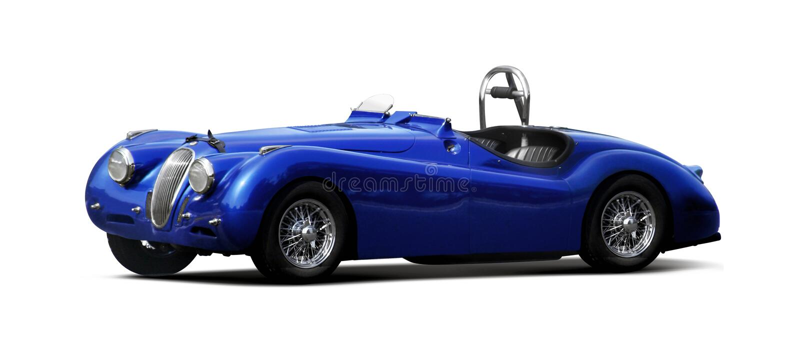 Automobile sportiva - giaguaro XK140 fotografia stock