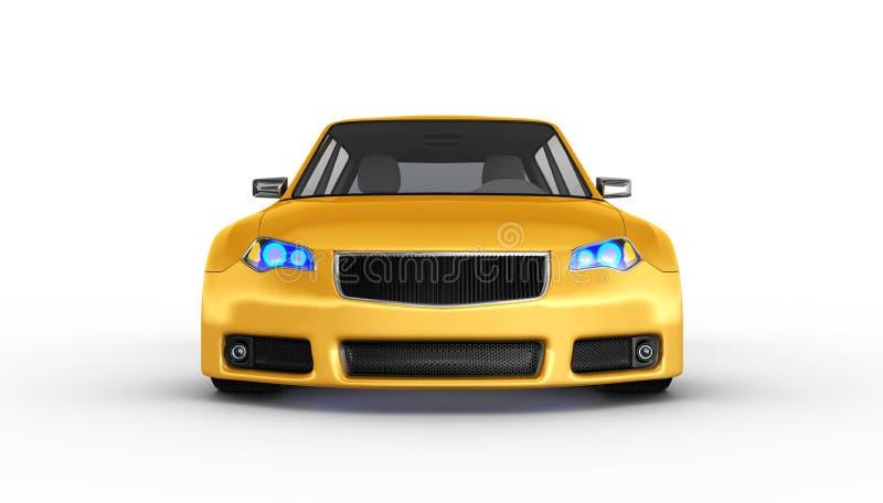 Automobile sportiva gialla - 3D rendono illustrazione vettoriale