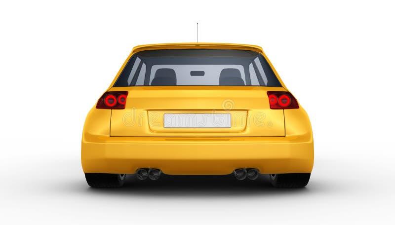 Automobile sportiva gialla - 3D rendono royalty illustrazione gratis