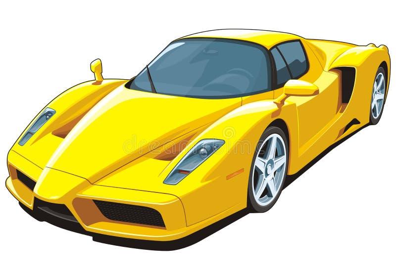 Automobile sportiva gialla royalty illustrazione gratis