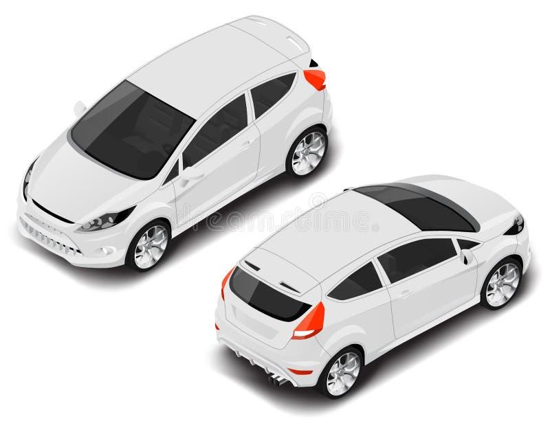 Automobile sportiva isometrica di alta qualità di vettore Icona di trasporto immagini stock