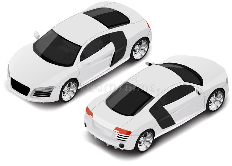 Automobile sportiva isometrica di alta qualità di vettore Icona di trasporto fotografie stock