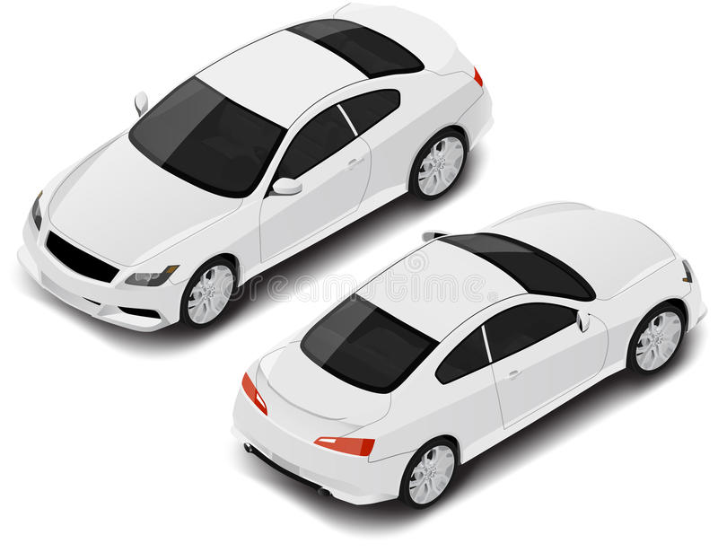 Automobile sportiva isometrica di alta qualità di vettore Icona di trasporto fotografia stock libera da diritti