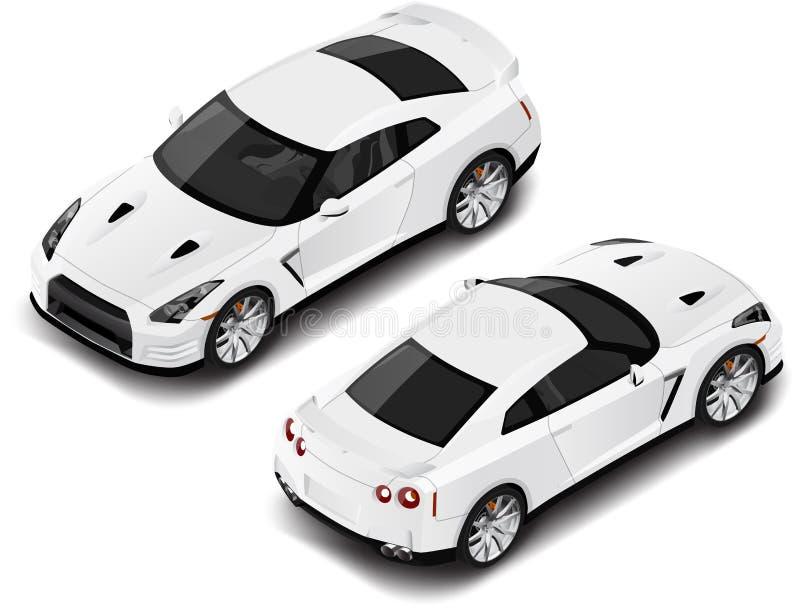 Automobile sportiva isometrica di alta qualità di vettore Icona di trasporto o elemento infographic Può essere usato per composiz fotografie stock