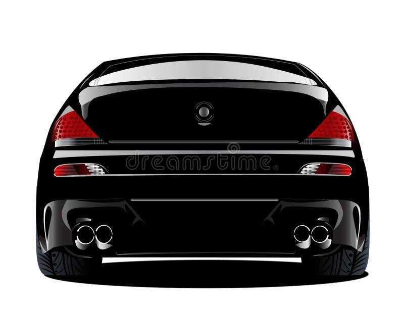 Automobile sportiva modificata europea nera del bmw m6 illustrazione di stock
