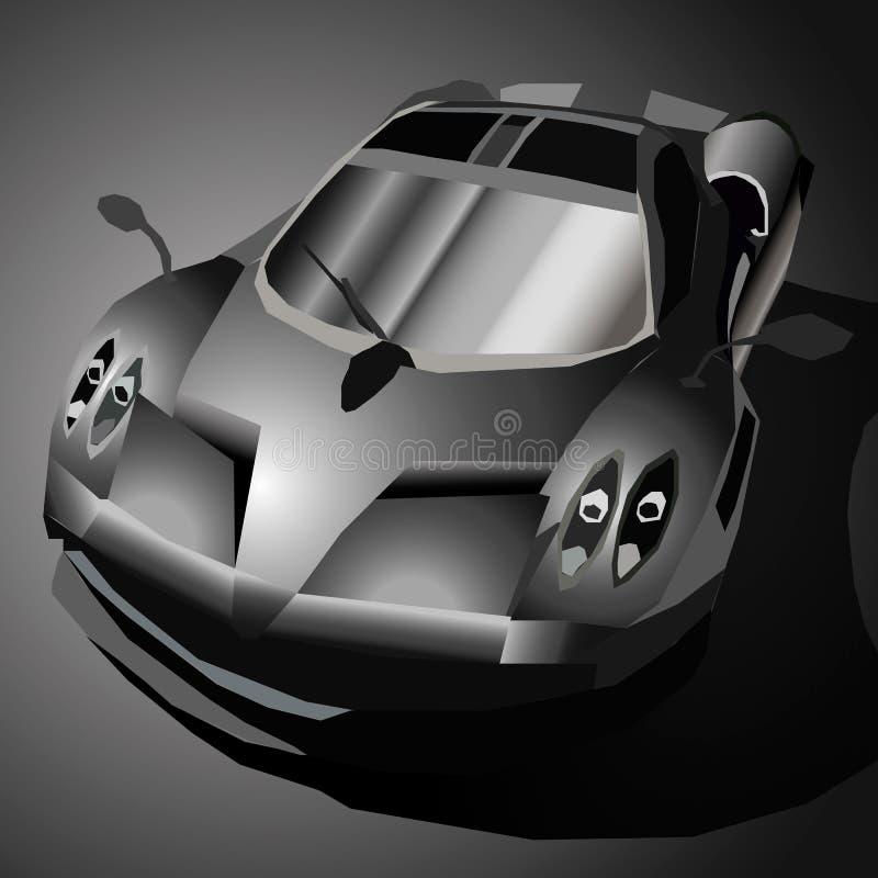 Automobile sportiva nera fotografie stock libere da diritti