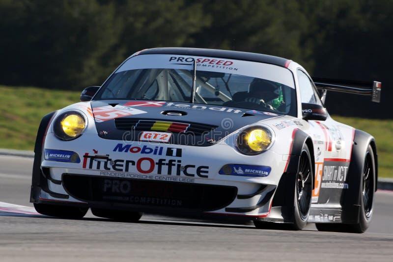 Automobile sportiva, Porsche 997 GT3 RSR (LMS) fotografia stock libera da diritti