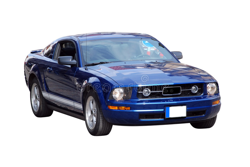 Automobile sportiva potente fotografia stock