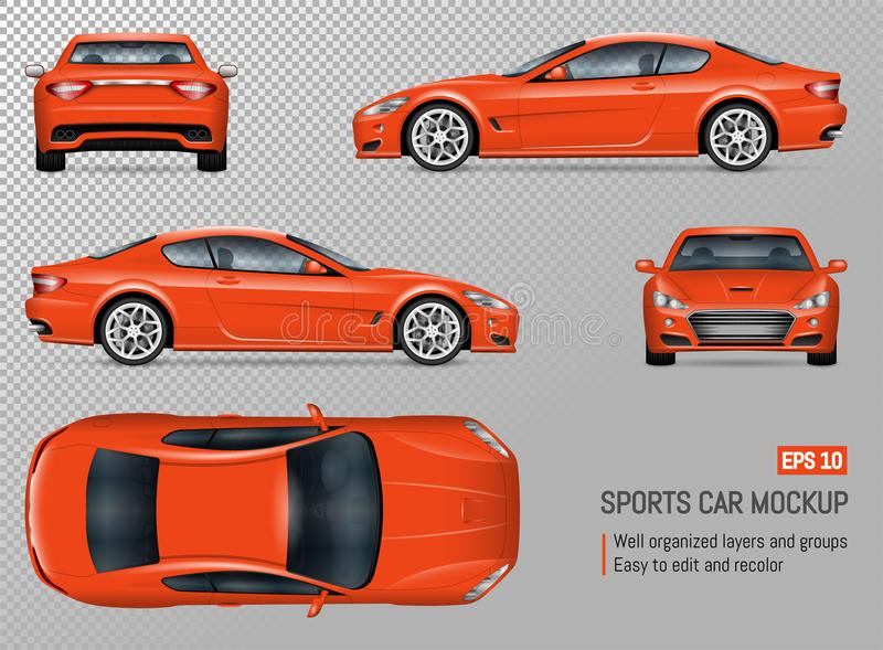 Automobile sportiva realistica di vettore royalty illustrazione gratis