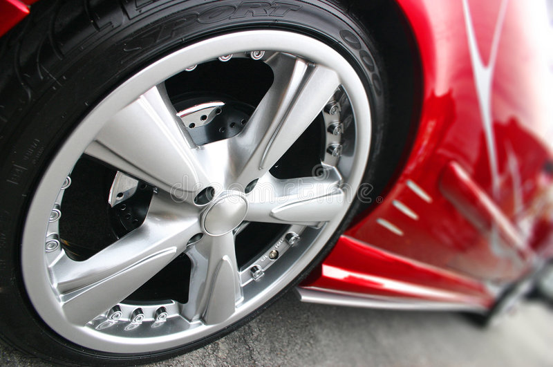Automobile sportiva rossa fotografia stock