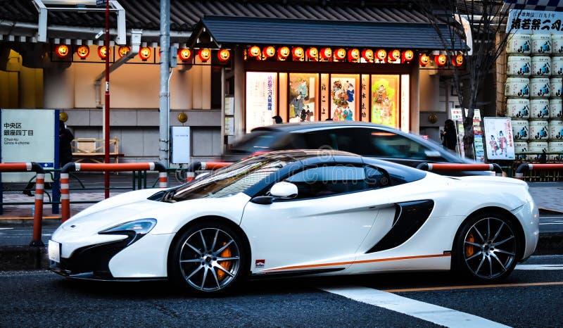 Automobile sportiva a Tokyo Giappone immagine stock