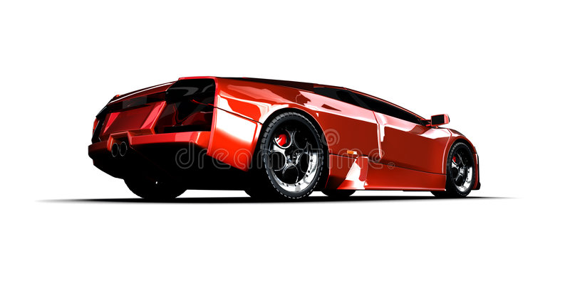 Automobile sportiva veloce. illustrazione 3D illustrazione vettoriale