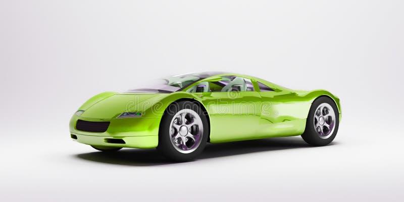Automobile sportiva verde 2 royalty illustrazione gratis